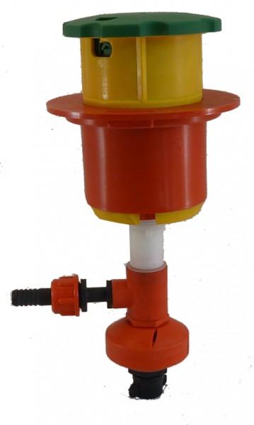 Schnelltrichter, Einfülltrichter mit Waschvorrichung